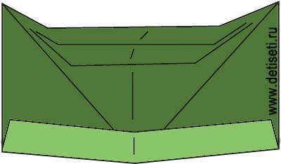 Пилотка оригами